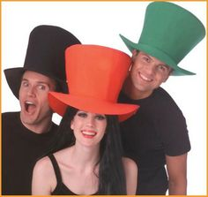 Jumbo Foam Halloween Top Hat $7.62 Oversized top hat. One size fits most adults and teens.  #MardiGras #Hat http://www.halloweencostumes4u.com/prods/rub47706.html
