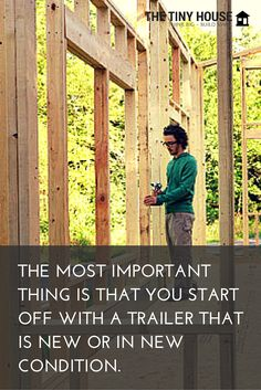 When I started building my tiny house on wheels in June of there were no specialized trailer beds for tiny homes. Since then, lots of companies have begun manufacturing trailers specifically for tiny houses. Buy A Tiny House, Tiny House Family, Building A Tiny House, Tiny House Living, Tiny House Plans, Tiny House On Wheels, House Floor Plans, Tiny House Layout, Tiny House Design