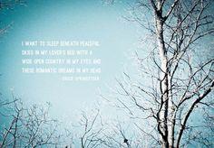 Lyrics:  Bruce Springsteen, No Surrender  Image and design:  Rebecca Tollefsen