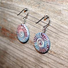 Coloful jewelry ceramic earrings