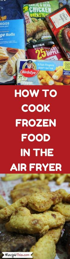 How To Cook Frozen Food In The Air Fryer. The ultimate guide to cooking frozen f… Sponsored Sponsored How To Cook Frozen Food In The Air Fryer. The ultimate guide to cooking frozen food in the air fryer. Air Frier Recipes, Air Fryer Oven Recipes, Air Fryer Fries, Nuwave Air Fryer, Power Air Fryer Xl, Slow Cooker, Air Fried Food, Scallop Recipes, Pizza