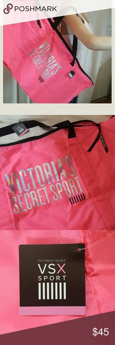 VSX Sport Giant Duffle, VS Hot Pink , New! NWT VSX Sport Giant Duffle, VS Hot Pink , New! NWT   Super cool details iridescent, holographic lettering across the front!  VSX Sport Giant Duffle, VS Hot Pink , New! NWT Victoria's Secret Bags Travel Bags