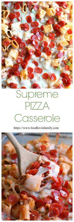 Supreme Pizza Casserole | http://www.foodlovinfamily.com/supreme-pizza ...