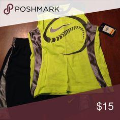 Boys size 6 Nike outfit NWT Brand new Bike shorts and sleeveless shirt set! NWT from Kohls! Nike Matching Sets