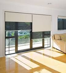 Split inside fit double blinds are a great solution on ranch-sliders.
