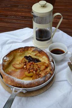 The Recipe Suitcase: Ofenpfannkuchen mit Ahornsirup glasierten Äpfeln /...