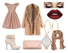 """Winter party"" by pinkybunny ❤ liked on Polyvore featuring Chi Chi, Nine West, Dorothy Perkins, Banana Republic and Olivia Burton"