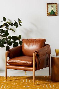 Havana Leather Chair | Living Room Decor Ideas