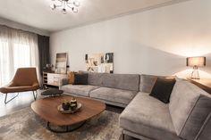 Διαμέρισμα Retro Industrial, Sofa, Couch, Living Room, Interior Design, Table, Furniture, Annie Sloan, Home Decor