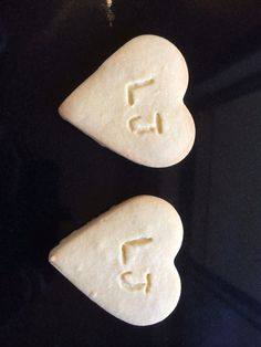 Favours for Guests.  Heart shaped shortbread