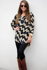 Restock: Packaged With Patterns Top: Black/Gold #shophopes