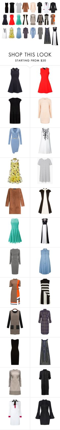 Rectangle Body Shape - Dresses by pennyrdunning on Polyvore featuring Erdem, Victoria Beckham, Vanessa Seward, Gucci, BCBGMAXAZRIA, Sea, New York, BOSS Hugo Boss, Lattori, RED Valentino and MuuBaa