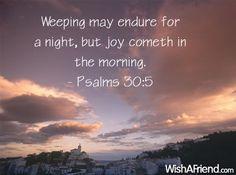 Weeping may endure
