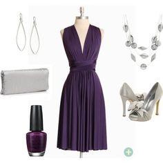 This dress will rock on almost any body and it costs only $40 from shopruche.com! Nights in Purple, created by nlamarre on Polyvore