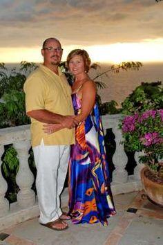 Missy and Bobby Davis renewed their wedding vows at Casa Serafines in Puerto Vallarta Mexico.  Villa vacation rentals through Casa Bay Villas