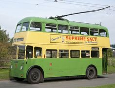 Wolverhampton Corporation trolleybus with a Wolverhampton manufactured Sunbeam chassis. Supplied to the Corporation in Black Country Living Museum Steam Trains Uk, Black Country Living Museum, Routemaster, Buses And Trains, Bus Terminal, Antique Trucks, Double Decker Bus, Bus Coach, London Bus