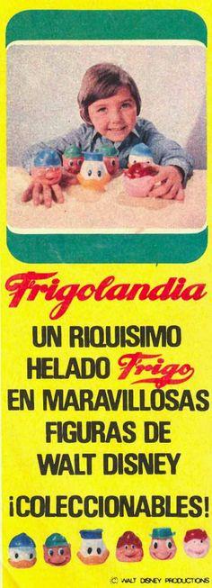 Cabezas de helados Frigo. En el pueblo lo vendían en el teleclub, la señora Prudencia. Que añoranza!!