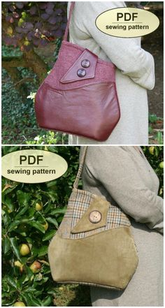 Brideshead bag sewing pattern. I love this vintage style shoulder bag, one of my favorite purse sewing patterns.