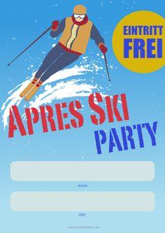 Poster Apres Ski Party als PDF-Vorlage