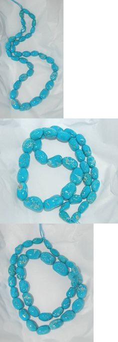 Stone 179273: Sleeping Beauty Turquoise Potato Beads - 485B - 17.5 Strand -> BUY IT NOW ONLY: $699 on eBay!