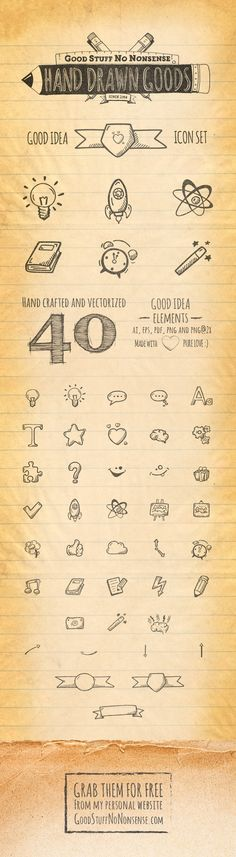40 Good Idea Icons by Agata Kuczminska