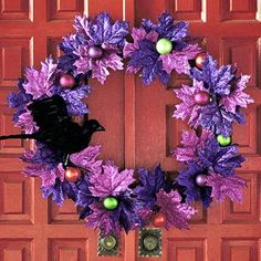 Halloween wreath, Better Homes and Gardens. (I don't think I need a Halloween wreath; maybe this could be Christmas-ized. . . .)