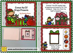 A tip for using interactive books in the special education classroom as well as a free Christmas interactive book to download.