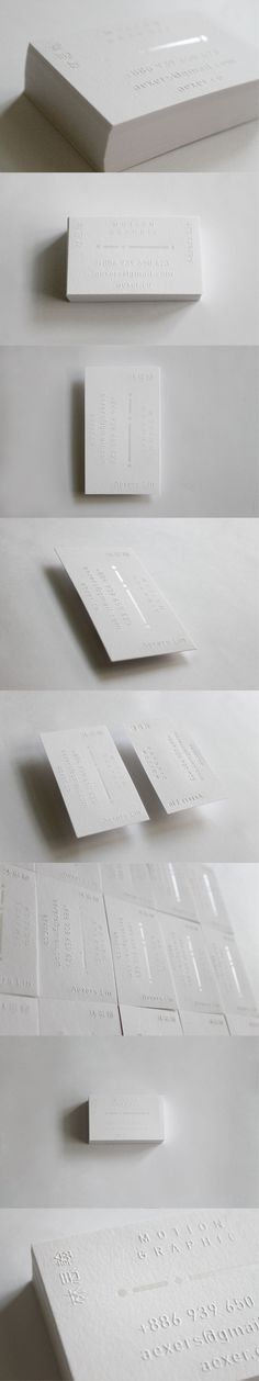 Aexers Lin - Business card Motion Graphic Design By Chun-Ta Chu