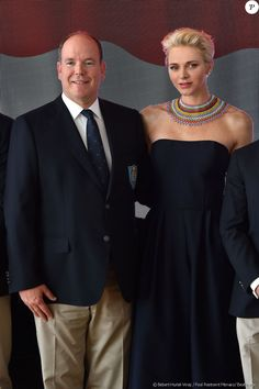 Exclusif - Le prince Albert II de Monaco et la princesse Charlene ont officiellement adressé le 22 juillet 2016 lors d'une réception au Yacht…
