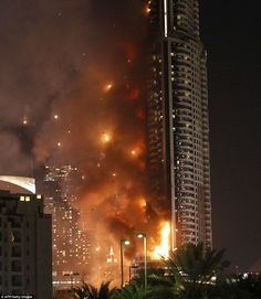The Address Downtown Dubai, a five-star hotel in Dubai gutted by fire hours before the New Year's fireworks display hosted by the world tallest building, the Burj Khalifa at midnight. You May Like:...