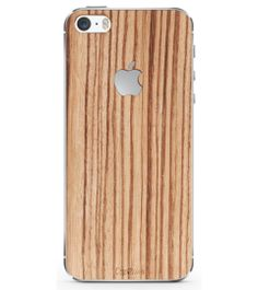 iPhone 5/5s zebra wood cover from Budapest  for Valentine's Day.
