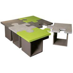 Table basse Puzzle béton
