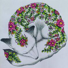 Fox #dagdrömmar #fox #adultcoloring