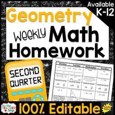 Geometry Homework Geometry Warm Ups Geometry Review