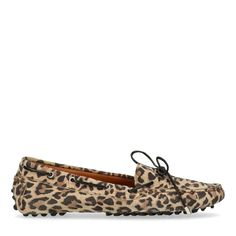Panther print loafers