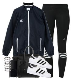 """""""Untitled #108"""" by rlbabe ❤ liked on Polyvore featuring adidas, adidas Originals, NARS Cosmetics and M.N.G"""