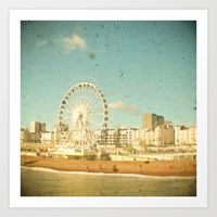 Brighton Wheel by CassiaBeck: The Wheel is a transportable Ferris wheel located on Brighton seafront. It was erected in October 2011 and has planning permission to remain in place until 2016 Beach Photography, Landscape Photography, Brighton Rock, Seaside Art, Baby Decor, Home Art, Ferris Wheel, Fair Grounds, Art Prints