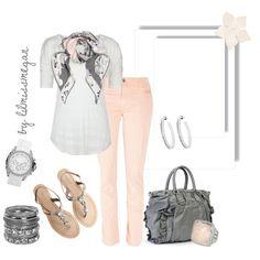 grey & pale pink
