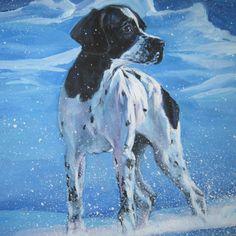 "Dog Art Print Dennis /""N/"" M Pointer"