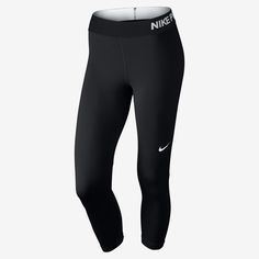 b80ce4b0f75 Women s Nike Pro Capri Black White Size Large  Women s Nike Pro Capri is  the perfect companion for high-intensity training and competition.