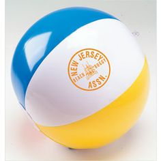 Inflatable multi-color beach balls add bounce to your summer promotions. - Price includes one color imprint on one white panel. - Multi-color ball has red, blue, yellow, and white panels. #promotional _products #jmprintit _printing