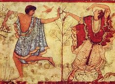 The Two Dancers:Tomb of the Triclinium at Tarquinia Etruscan civilization is the modern English name given to a civilization of ancient Italy in the area corresponding roughly to Tuscany, western Umbria, and northern Latium.