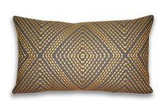 Thro by Marlo Lorenz 5871 Alexa Embroidered Pillow, 12 by 20-Inch, Birch: Home & Kitchen