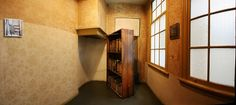 One of the most impressive places on our list of places to visit in Amsterdam is the Anne Frank Hous Secret Rooms In Houses, Passage Secret, Hidden Passageways, Murphy Door, Secret Space, Hidden Rooms, House Inside, Room Setup, Tiny Spaces