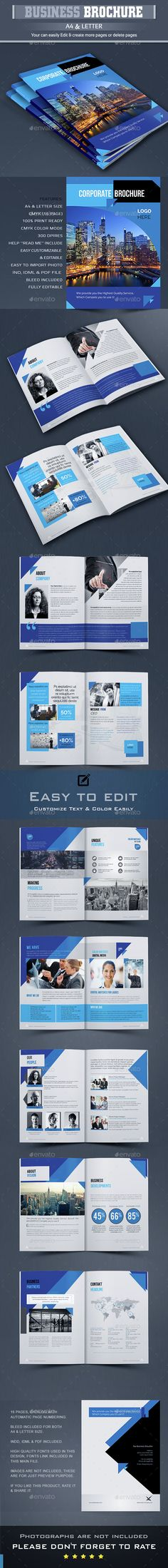 Business Brochure Template InDesign INDD. Download here: http://graphicriver.net/item/business-brochure-/14955826?ref=ksioks