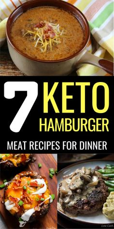 Meat Recipes For Dinner, Easy Meat Recipes, Ground Beef Recipes, Low Carb Recipes, Cooking Recipes, Low Carb Hamburger Recipes, Bariatric Recipes, Ketogenic Recipes, Ketogenic Diet