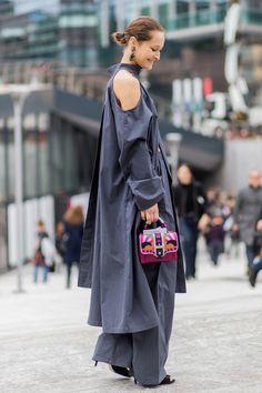 Milan Fashion Week street style, those simple but elegant layered look