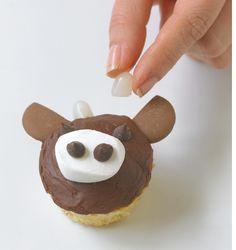 Kuh Cupcake #Tortendekorieren #Cupcakes #Bauernhof #Kuh