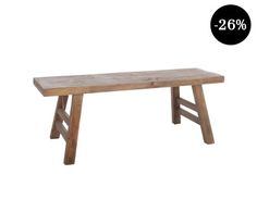 Banco de madera de pino Nature - largo 120 cm Shopping, Wooden Benches, Pine, Home