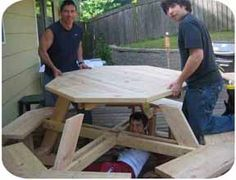 free octagon picnic table plans download